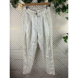 Alexander Wang Pants Parachute Silk Cotton Cream